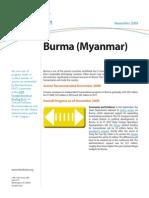 Progress Report Burma