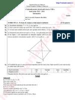 Rezolvare Model Subiecte Capacitate Matematica 2014