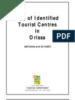 Identified Tourist Centre of Orissa