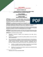 Ley Proteccion Ninos y Ninas SINALOA