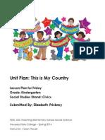 Kindergarten Civics Unit Plan FRIDAY