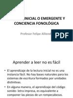 LECTURA INICIAL  Y CONCIENCIA FONOLÓGICA