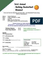 Basketball Blowout Flyer