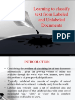 Learning to Classify Text From Labeled and Unlabeled Documents