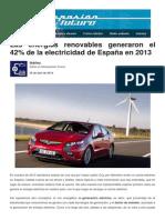 Energías Renovables en 2013