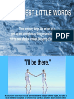 Three words to say