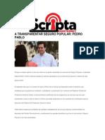 29-04-2014 Scripta - A TRANSPARENTAR SEGURO POPULAR, PEDRO PABLO.