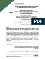 Persp Em Gestão e Conhec, João Pessoa-2(1)2012-A Emergencia Da Gestao Do Conhecimento Para Ancorar a Excelencia Organizacional