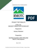 STWA Test Report - Final May 2012