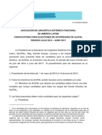 Convocatoria Elecciones 2014 Espanol