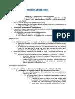 revision cheat sheet