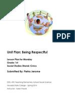 EDEL453 Spring2014 PietraJerome Unit Plan Monday (1)