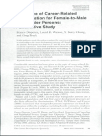 Experience of Career-Related Discrimination for Female-To-Male Transgender , Qualitative