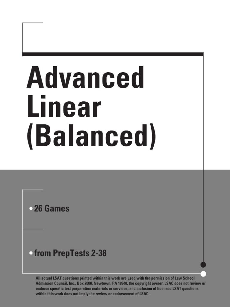Advanced linear balanced logic games lsat malvernweather Choice Image