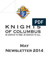Arkansas Knights of Columbus Newsletter May 2014