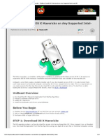Install OS X Mavericks on Any Supported Intel-based PC