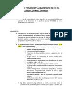 Instrucciones Para Presentar Proyecto Final Del Curso
