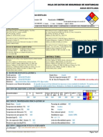Agua Destilada -----Hds Formato 13 Secciones, Qmax