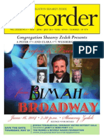 Shaarey Zedek Recorder May-June-July 2014