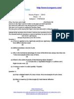 2216ICSE - Physics - 2013