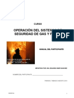 Manual Del Sistema de Seguridad Gas y Fuego