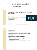 Marketing online government services