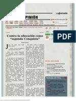 La Jornada_ Contra La Educación Como Segunda Conquista
