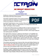 Alkaline Weight Reduction of Polyester Fabrics