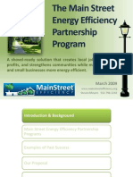 The Main Street Energy Efficiency Partnership Program