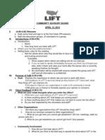 Cab Facilitator Agenda