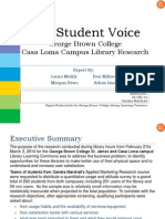 George Brown College Library Learning Commons Market Research Report