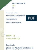 EPBM 18 Orientation