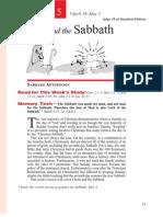 2nd Quarter 2014 Lesson 5 Christ and the Sabbath Teachers' Edition