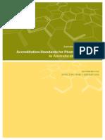 Accreditation Standards for Pharmacy Degree Programs 2014