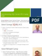 Administering Microsoft SQL Server 2012 Databases Jumpstart-Mod 1_final