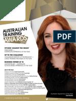 At a 2012 Australian Training Awards Magazine