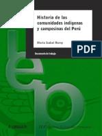 Remy. Historia de Las Comunidades Indígenas y Campesinas Del Perú