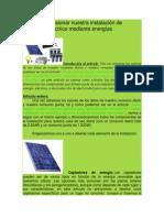 Cómo Dimensionar Nuestra Instalación de Suministro Eléctrico Mediante Energías Renovables
