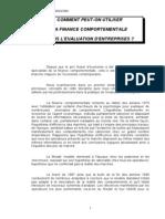 Comment Peut on Utiliser La Finance Comportementale - Mars 2007