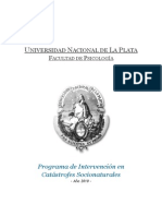 Programa de Intervencion en Catastrofes Socionaturales