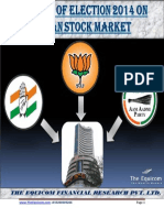 Impacts of Election 2014 on Indian Stock Market