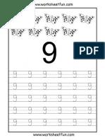 Fun Numbertracing 9