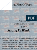 Presentation Marketing Plan of Pepsi