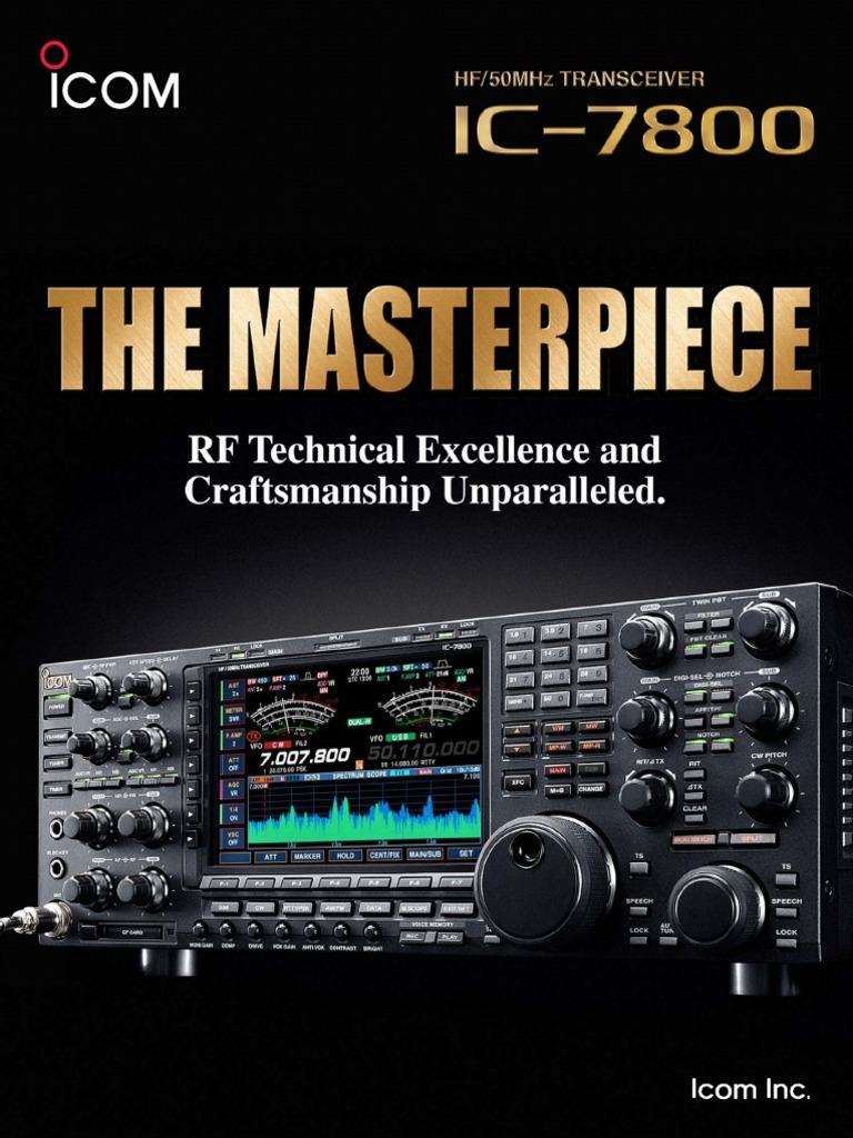 Icom Ic 7800 Brochure Amplifier Digital Signal Processing Rig 2300h