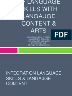 Integration of Language Skills With Langauge Content &
