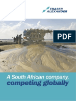Fraser Alexander, a South African company competing globally