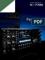 ICOM IC-7700 Brochure