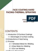 Surface Coating Hard Facing Thermal Spraying
