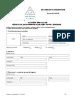 Gcgoe Dossier de Candidature 2014-15
