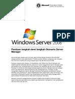 Paduan Penggunaan Server Manager Di Windows Server 2008